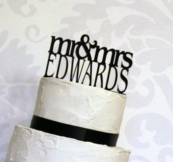Personalized Custom Mr Amp Mrs Wedding Cake Topper With YOUR Last Name
