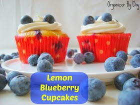 Organizer By Day: Lemon Blueberry Cupcakes