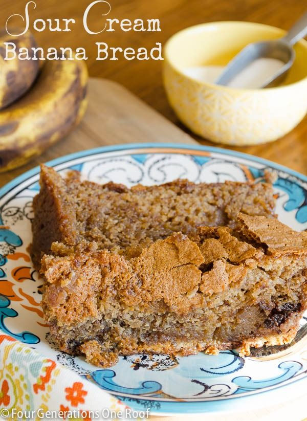 make banana bread with sour cream and chocolate chips #recipe #banana ...
