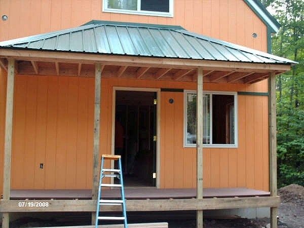 hipped roof front porch construction cottage ideas