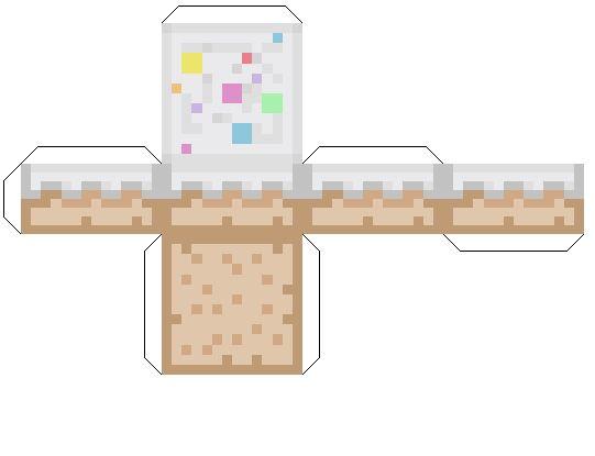 Как сделать еду из майнкрафта из бумаги