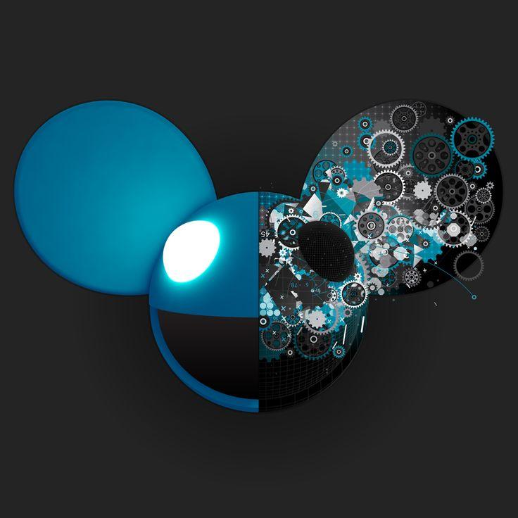 deadmau5 blue head wallpaper - photo #12