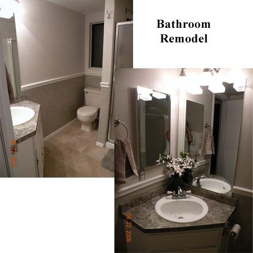 Utility bathroom wall treatment idea bathroom remodel for Bathroom rehab ideas