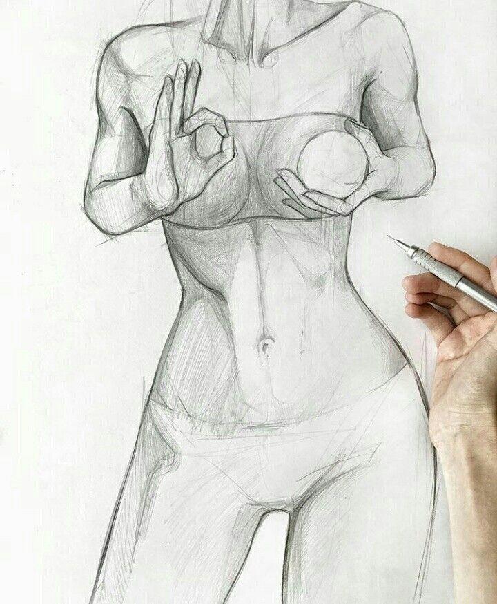 Обнаженное Женское Тело Рисунок