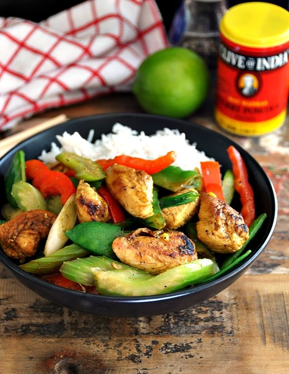 Honey, Lime Curry Chicken Stir Fry - A super easy stir fry without any ...