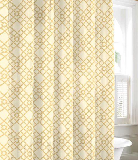 Gold cotton trellis curtain   Bedroom   Pinterest
