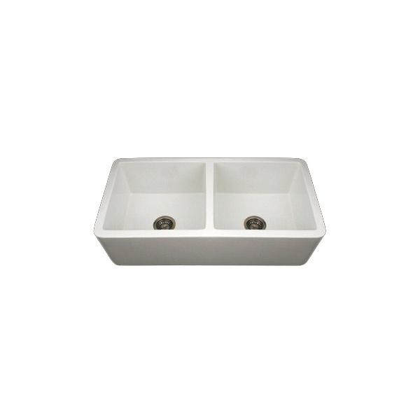 Fireclay Double Bowl Farmhouse Sink : Farmhouse Sinks