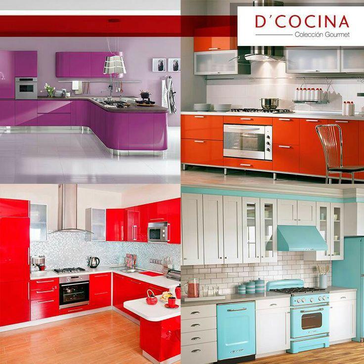 Cocina de colores dise o de interiores pinterest - Colores de interiores ...