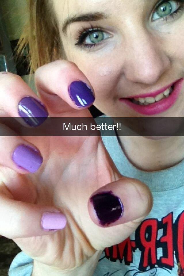 Purple ombre nails!! | Nail Art! | Pinterest
