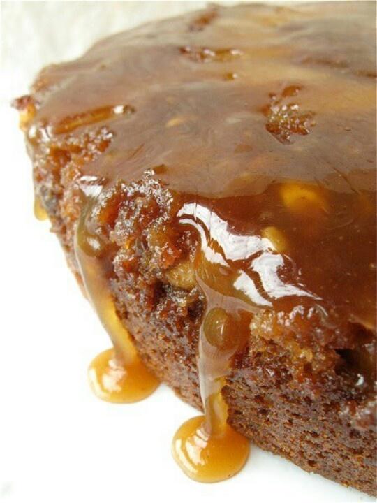 Caramel Apple Upside Down Cake | Crack crack crack the egg into the b ...