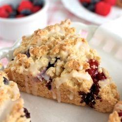 scones for brunch raspberry amp blueberry with lemon glaze dairy amp ...