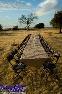 Dinner behind Corvus Cellars - Summer 2011