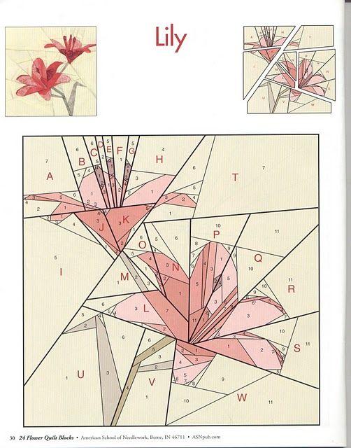Шитьё по бумаге цветы