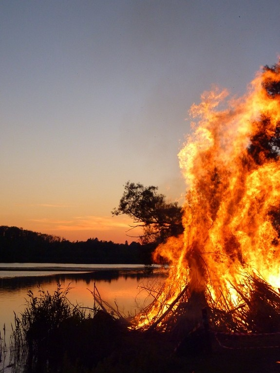 A Sankt Hans Aften Fire - Danish tradition at summer solstice