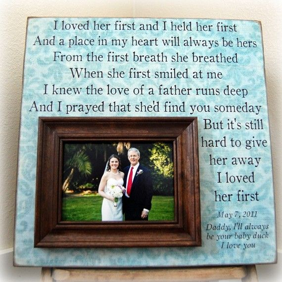 """I loved her first"" dad's gift"