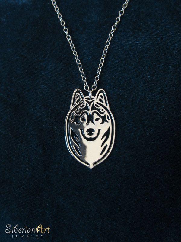 siberian husky heart necklace by siberianart on etsy siberian husky ...
