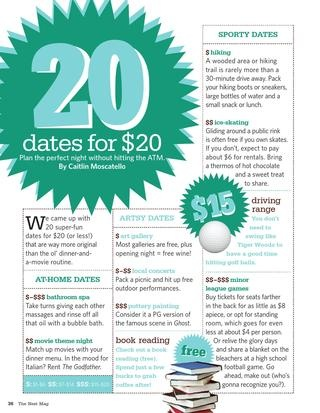 20 dates for under $20