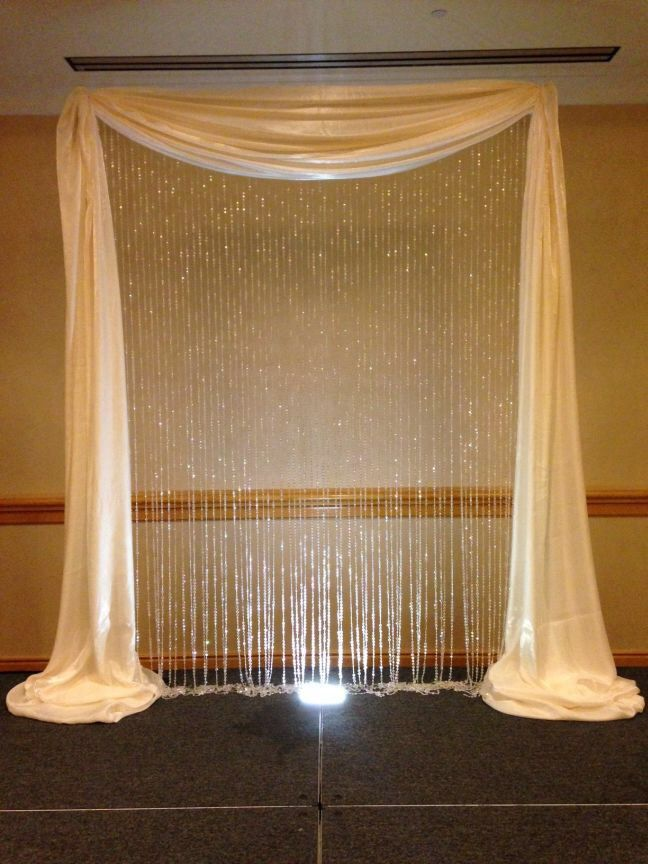 Curtains with crystals | My 12/13/14 Wedding | Pinterest
