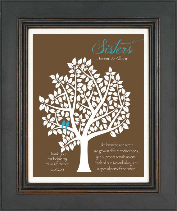 Wedding Day Gift For Sister : of Honor Sister Gift - Personalized Gift for Sister on Wedding Day ...