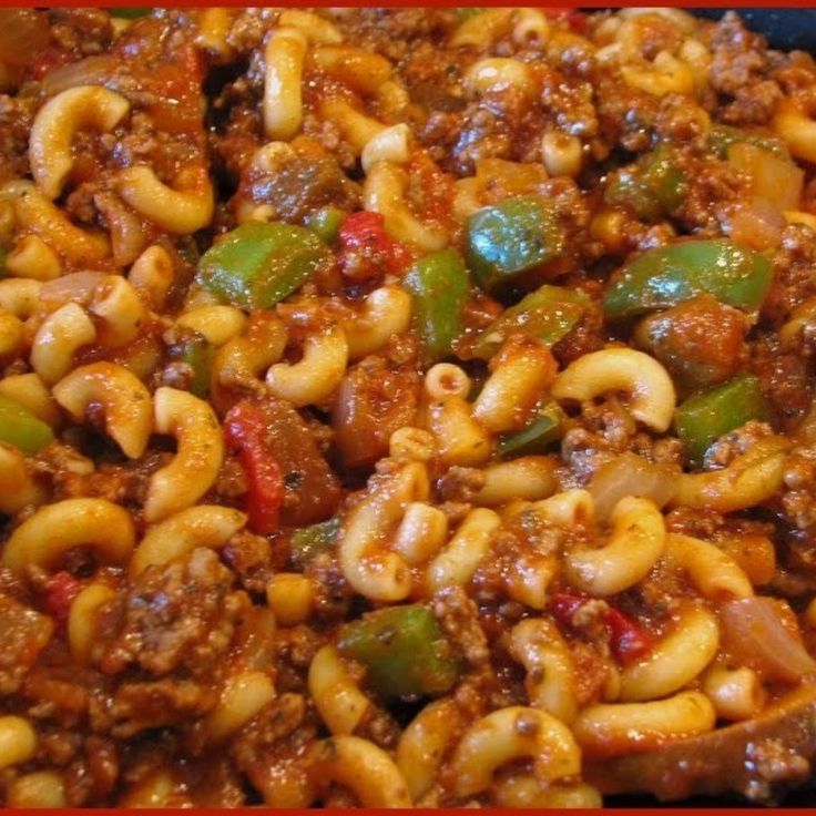 Goulash (Not Hungarian Goulash) In Ohio they call it Johnny Marzetti ...