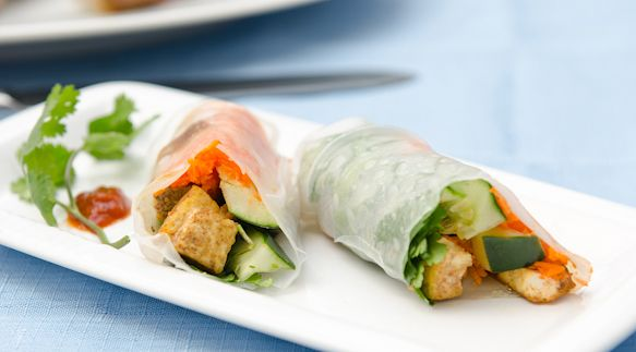 Tofu Vegetable Summer Rolls | Snacks & Appetizers | Pinterest