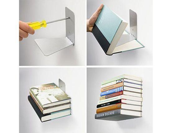 Diy floating books corner office pinterest - Etagere murale design pour livres ...
