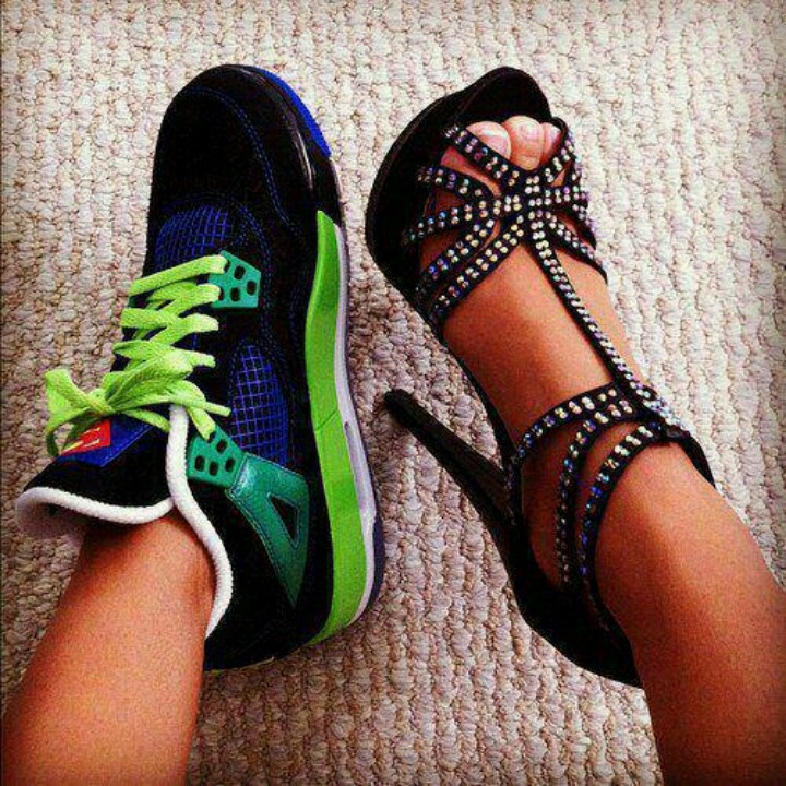 sneakers vs high heels This 22 inch heel height provides enough lift to give your step a spring, but it's not too high that the balls of your feet will be aching all day  this low heel height looks particularly cute in a stiletto heel also.