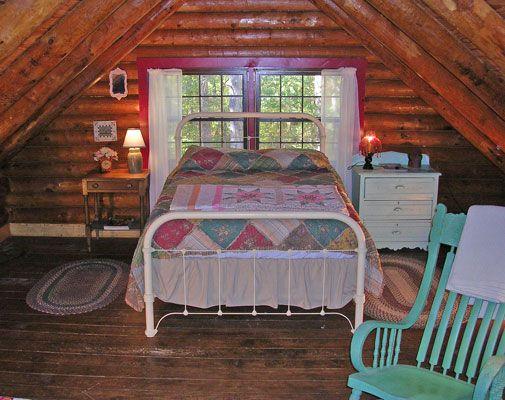 Bedroom loft my one room cabin ideas pinterest for Cabin loft bedroom ideas