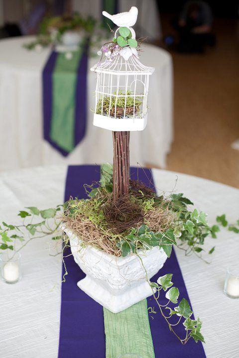 Birdcage topiary centerpiece | Davis Event Design