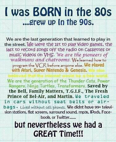:) the good old days