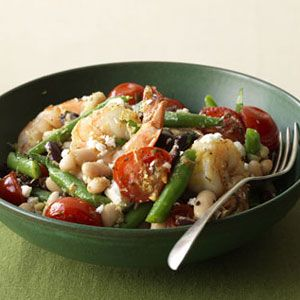 Greek-Style Shrimp and Cannellini Beans cooked in foil packets means ...