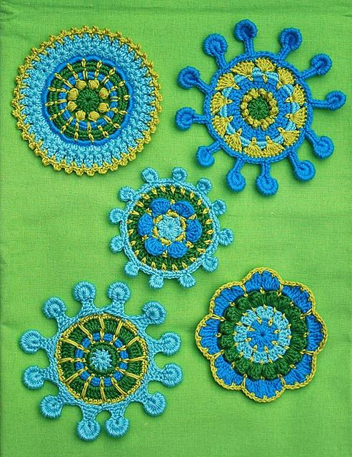 Ravelry: SPOKE & PICOT MOTIFS - crochet pattern, pdf pattern by CAROcreated design