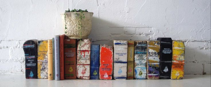 Brick Books (http://blog.hgtv.com/design/2013/09/25/daily-delight-brick-books/?soc=pinterest)