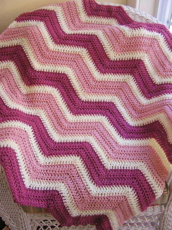 chevron zig zag baby blanket afghan wrap by JDCrochetCreations, $75.00 ...