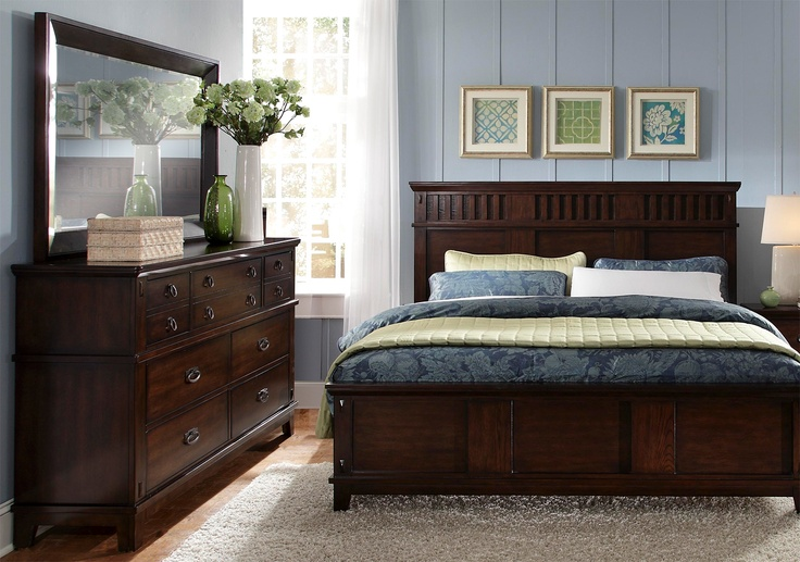 Mission style bedroom home pinterest for Mission style bedroom furniture