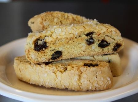 Cherry Almond Biscotti. MMMmmm... The almond flavor is enhanced with ...