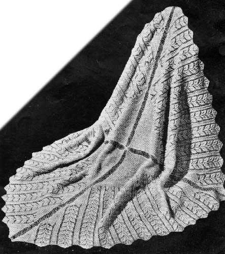 Free Knitting Pattern: Rose Leaf Baby Shawl DIY ideas ...