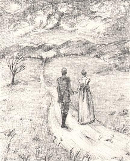 Romantic Pencil Drawing | www.imgkid.com - The Image Kid ...