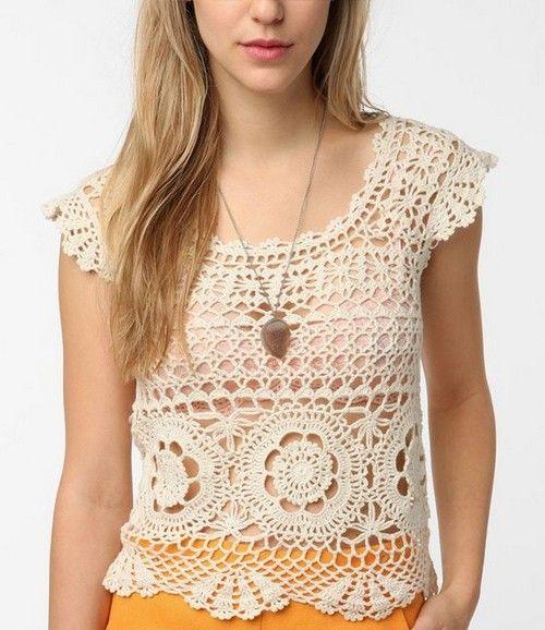 Crochet and diagram summer tops 1.......
