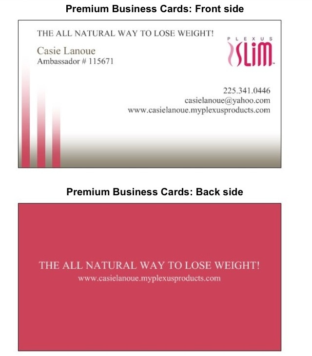 Plexus Business Cards