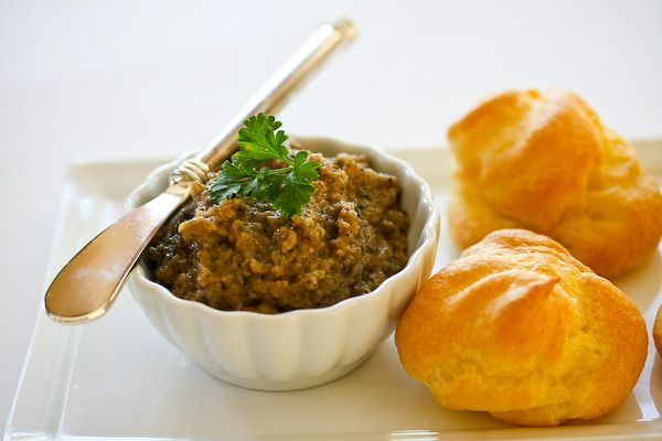 Cheese Puffs and Mushroom Pate... I'm going to have to try this soon!