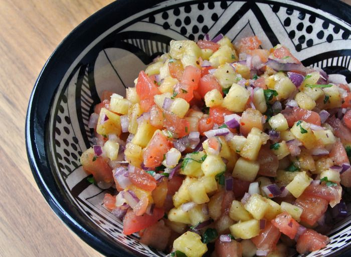 Spicy pineapple salsa | Recipes from my blog | Pinterest