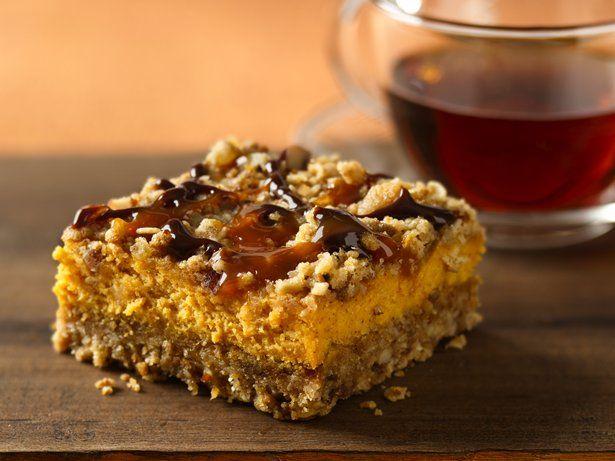 Pumpkin Streusel Cheesecake Bars   Yummy   Pinterest