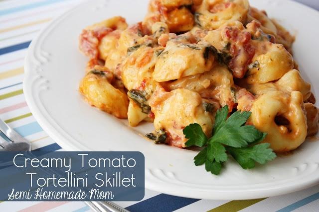 Creamy Tomato Tortellini Skillet | Nom noms | Pinterest