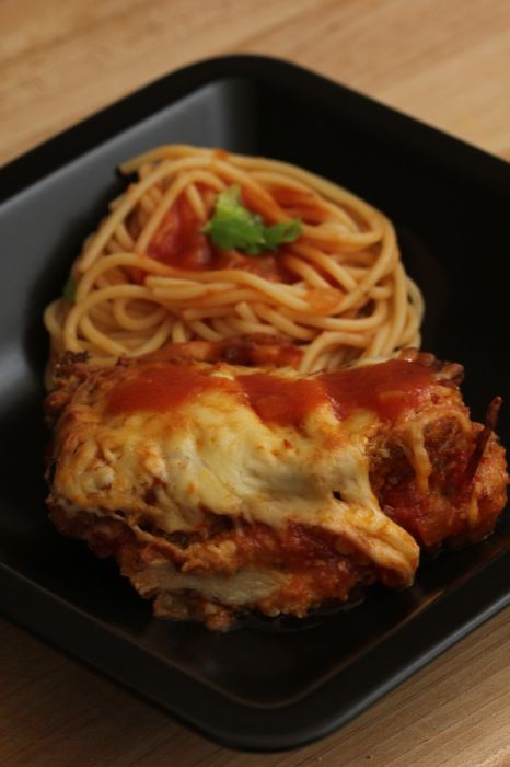 Plated Chicken and Eggplant Parmesan II | Get In My Belly | Pinterest