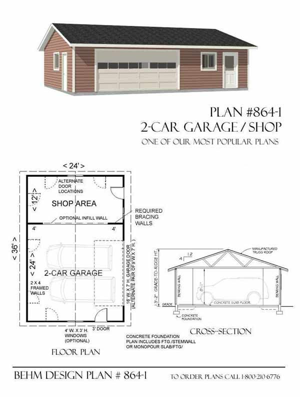 Pin by behm design on garage plans by behm design pdf for Garage and shop plans