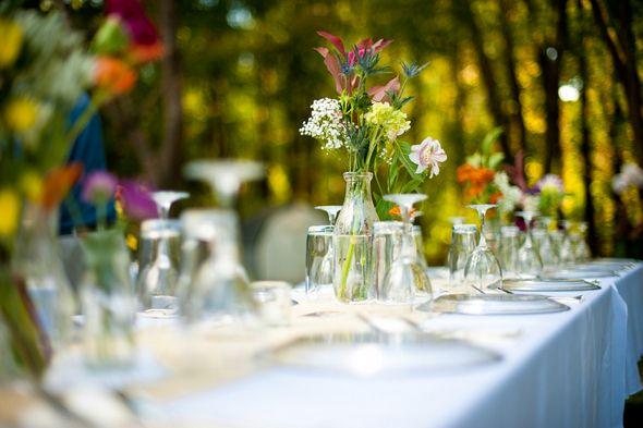 Backyard Wedding Decorations Diy : lovewedblissrealweddingsdiyweddingsdiyvintagebackyardwedding