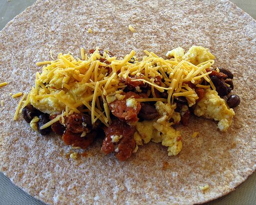 Black Bean Breakfast Burrito | food junkie :) | Pinterest