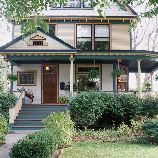 Front porch design ideas wrap around porches for Homes with porches all the way around