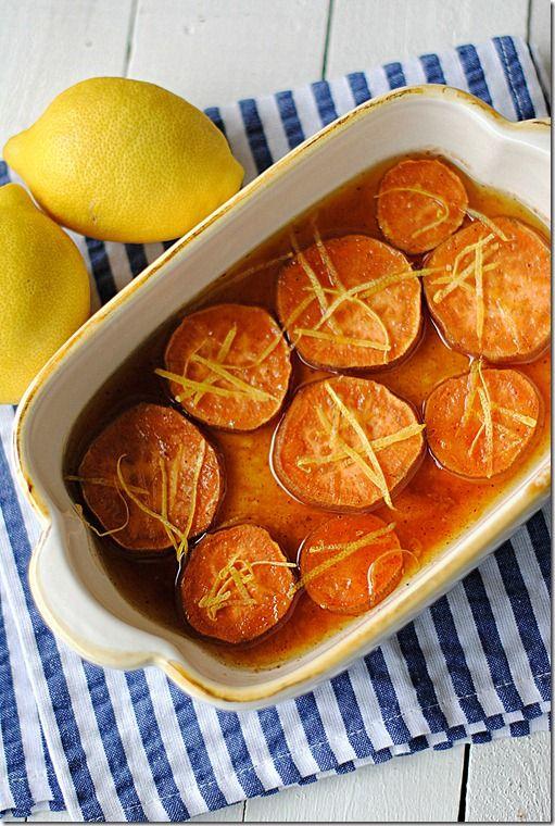 Lemon and cinnamon sweet potatoes